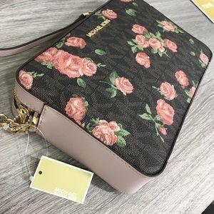 Michael Kors floral cross body purse